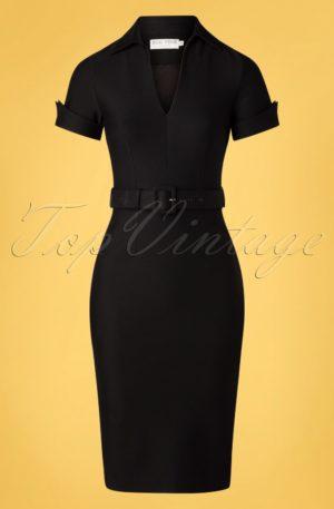 50s Georgie Pencil Dress in Black