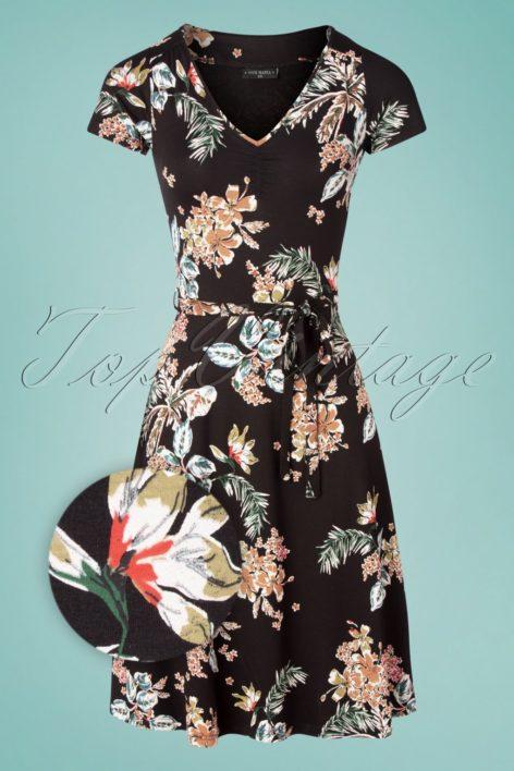 50s Honolulu Hawaii Dress in Black