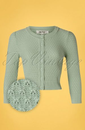 50s Jennie Cardigan in Duck Egg Green