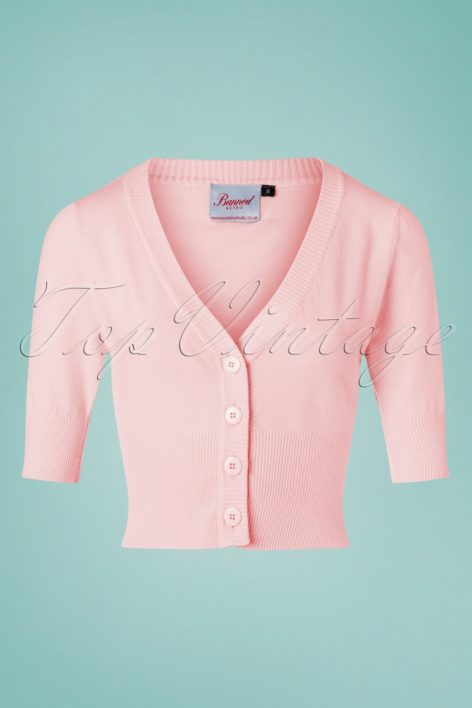 50s July Cardigan in Baby Pink