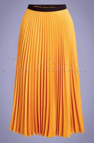 50s Marilyn Pleated Skirt in Honey