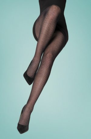 50s Marisa Tights in Black