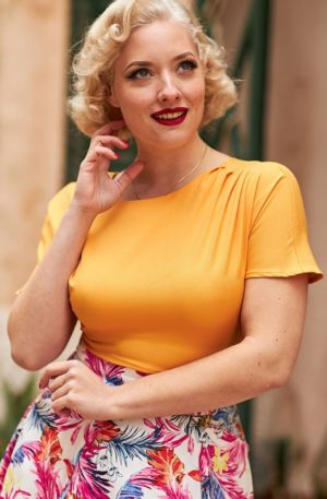 50s Merle Top in Honey