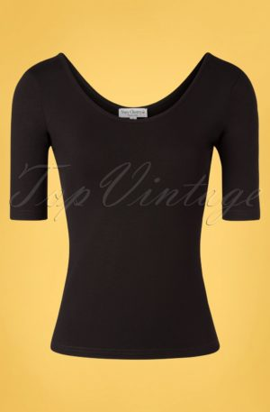 50s Natalya Top in Black
