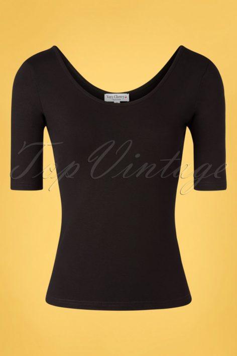 50s Natalya Top in Black