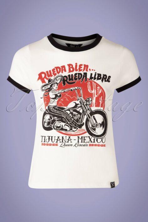 50s Rueda Bien T-Shirt in Off White