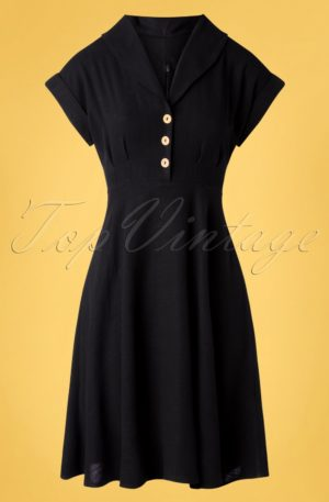 50s Sahara Swing Dress in Black