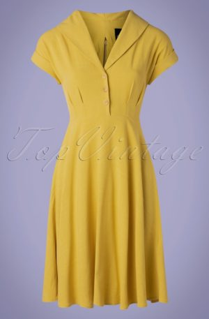 50s Sahara Swing Dress in Yellow