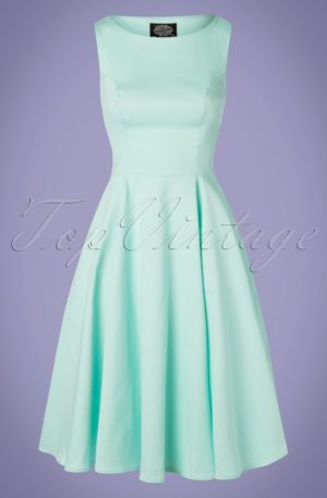 50s Stella Swing Dress in Mint