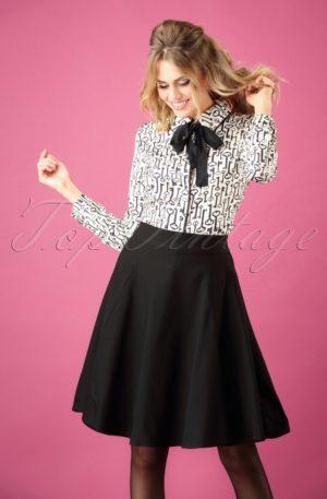 50s Tammy Swing Skirt in Black