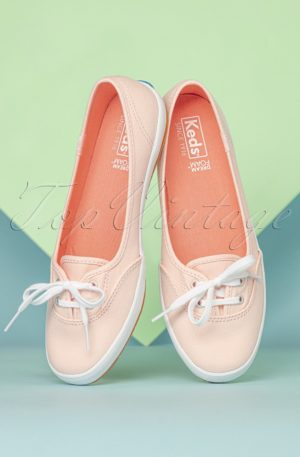 50s Teacup Twill Ballerina Sneakers in Rose