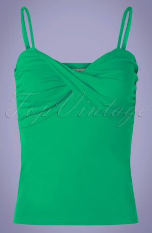 50s Wrap Front Top in Green