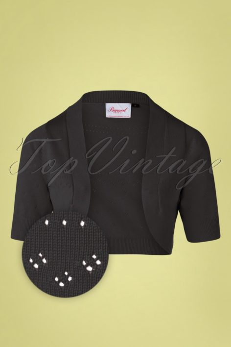 50s You Are My Sunshine Bolero in Black