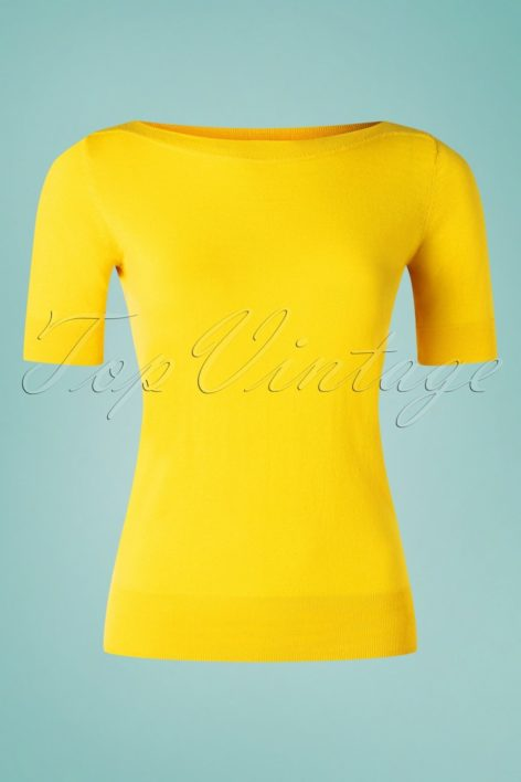 60s Audrey Cottonclub Top in Sunny Yellow