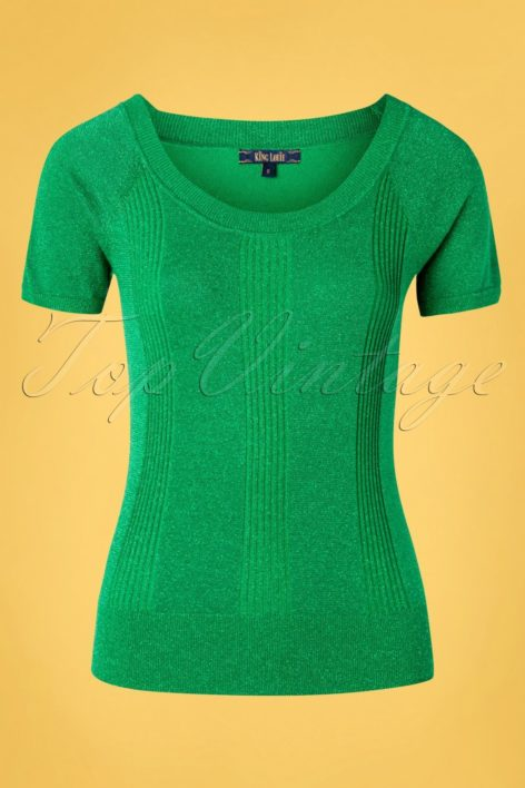60s Boatneck Lapis Top in Very Green