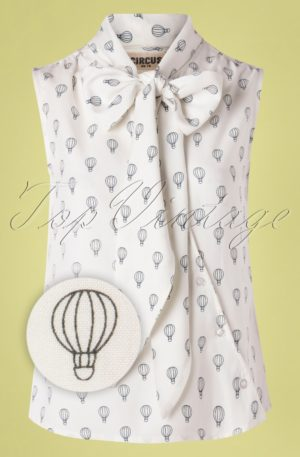 60s Brendie Balloon Top in Ivory