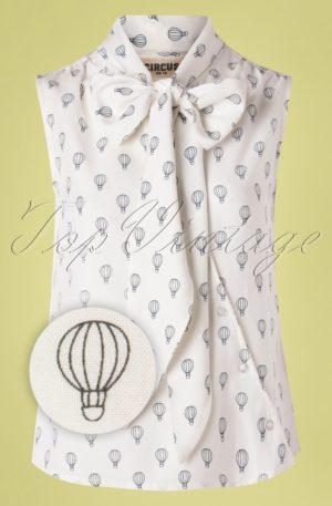 60s Brendie Balloon Top in Ivory
