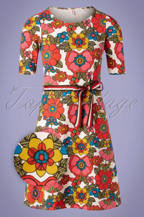 60s Caravan Of Love Dress in Shower Flower Multi