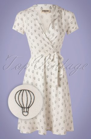 60s Cynthia Balloon Dress in Ivory