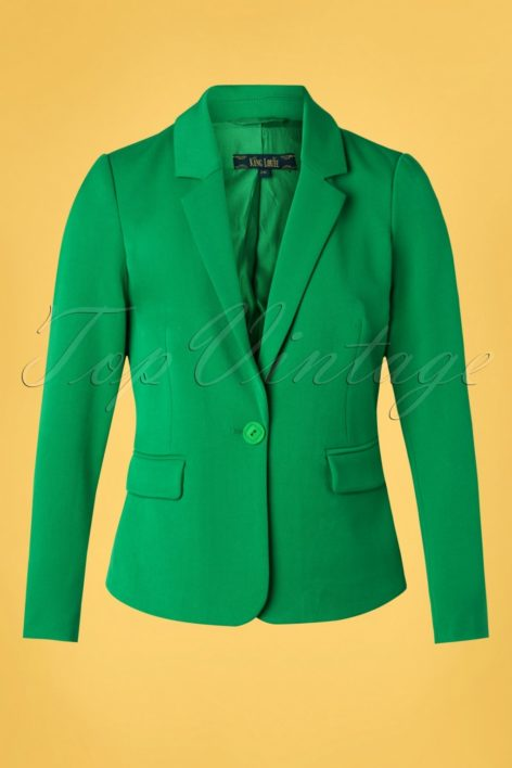 60s Daisy Broadway Blazer in Very Green