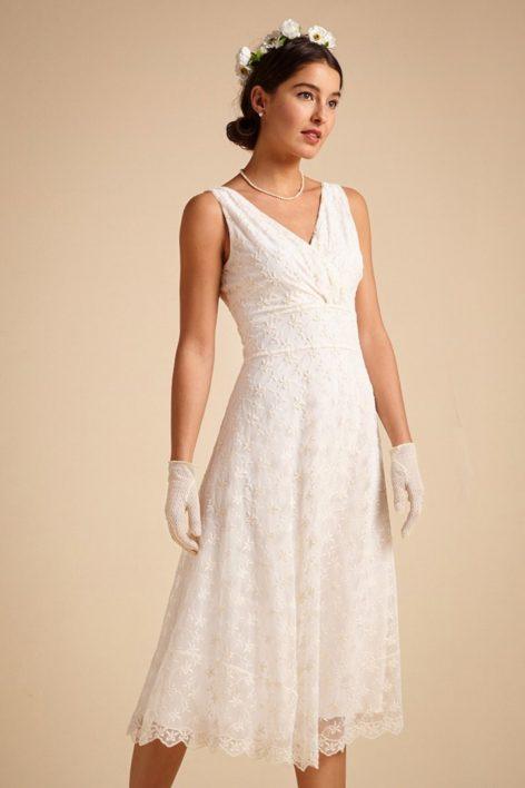 60s Ginger Venise Wedding Dress in Cream