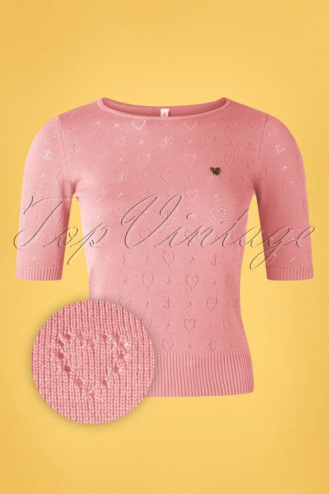 60s Logo Roundneck Pully in Great Graphic Rose