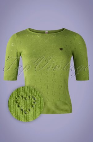 60s Logo Roundneck Pully in Green Heart Anchor