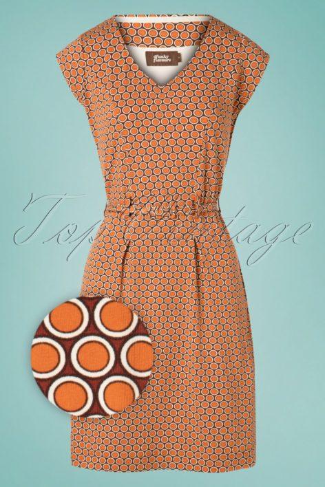 60s Love Talk Pencil Dress in Burnt Orange