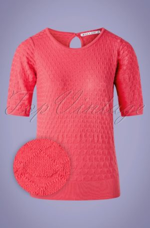 60s Maite Top in Hot Pink