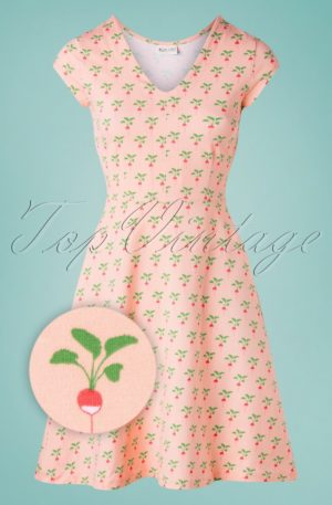 60s Marilyn Radish Dress in Peach Pink