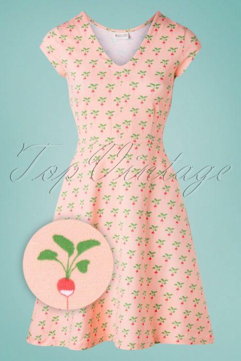 60s Marilyn Radish Dress in Peach Pink