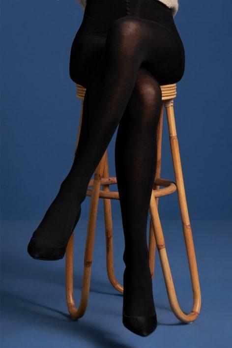 60s Modal Tights in Black