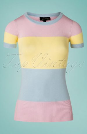 60s Sydney Striped Jumper in Pastel