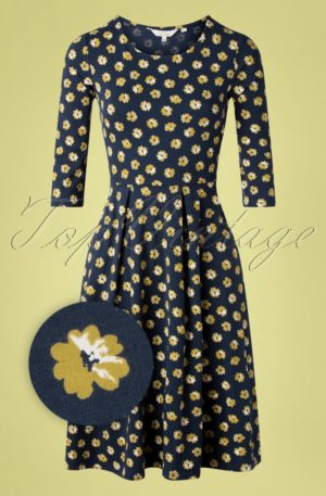 60s The Mouls Dune Swing Dress in Primrose Blue
