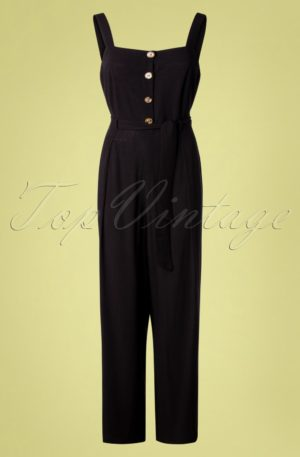 70s Ines Verona Jumpsuit in Black