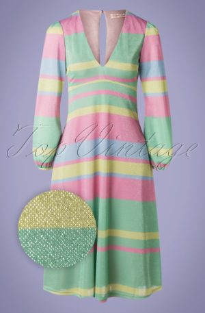 70s Mama Mia Glitter Dress in Multi