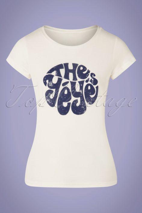 70s My Favourite Band T-Shirt in Ecru