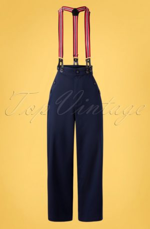 40s Nona Nancy Culottes in Navy