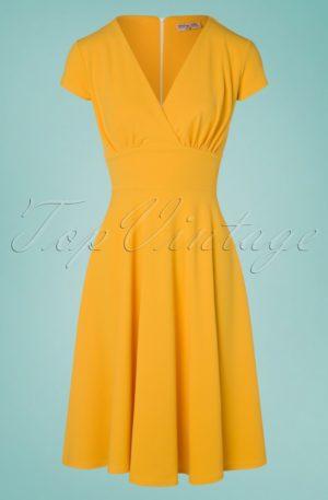 50s Addison Swing Dress in Honey Yellow
