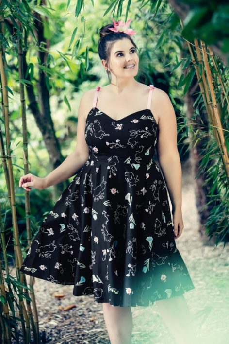 50s Binky Swing Dress in Black