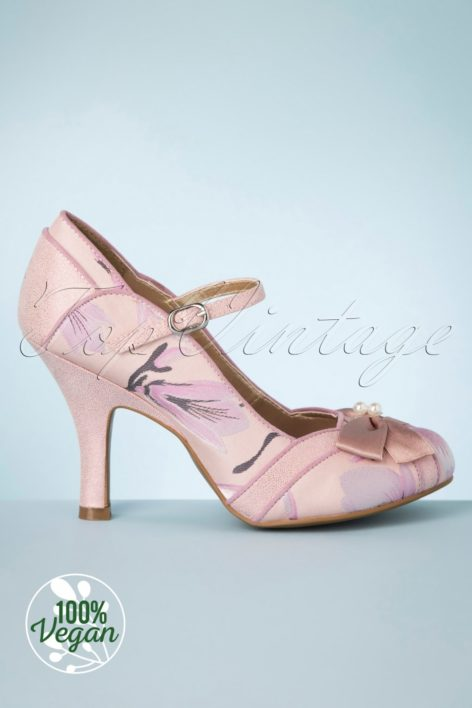 50s Cleo Pumps in Soft Pink