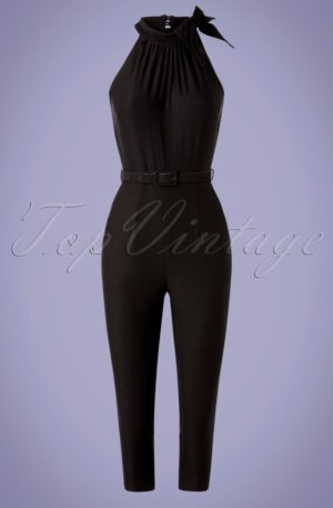 50s Jessica Halter Jumpsuit in Black