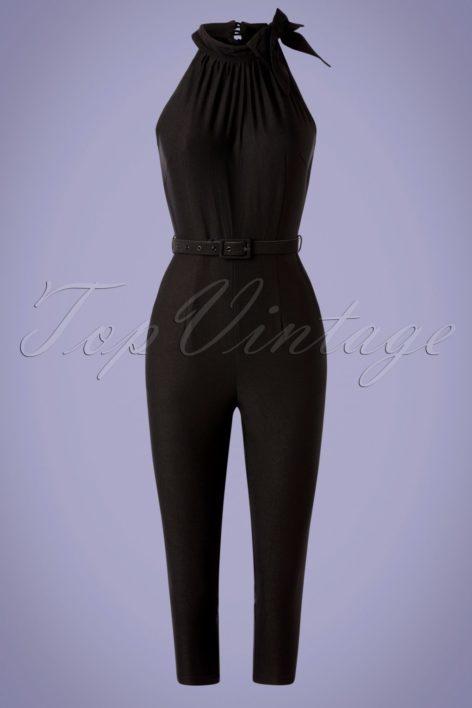 50s Jessica Halter Jumpsuit in Black