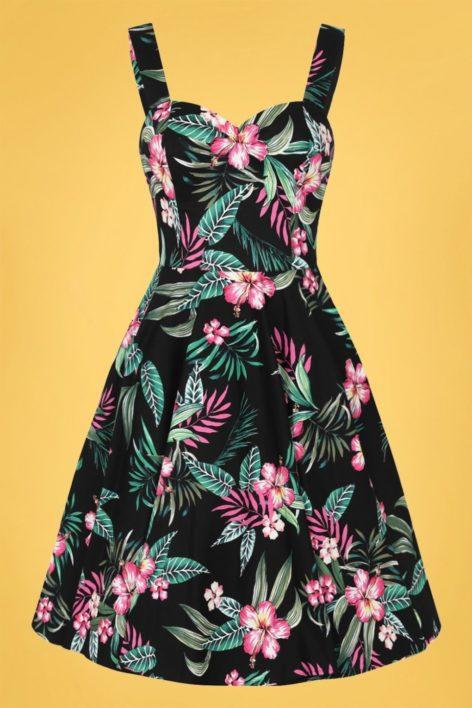 50s Kalani Swing Dress in Black