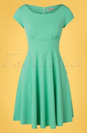 50s Kimberley Swing Dress in Mint Green