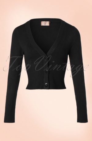 50s Lets Go Dancing Cardigan in Black