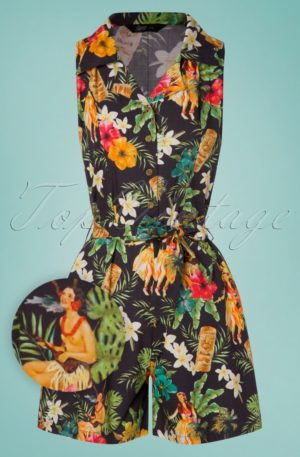 50s Mambo Jumpsuit in Black