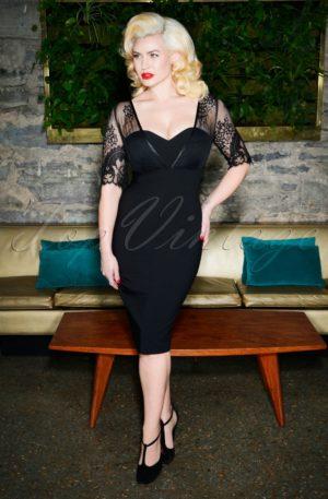 50s Megan Pencil Dress in Black