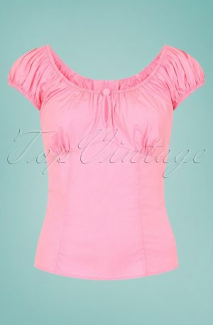 50s Melissa Top in Candy Pink