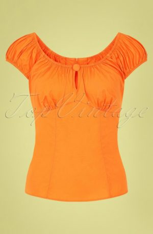 50s Melissa Top in Orange